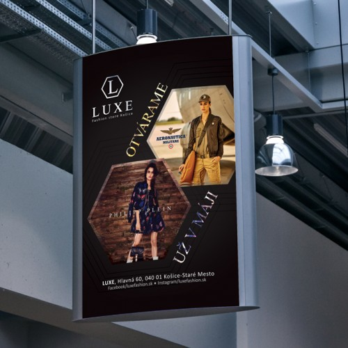 Vizual comunication and campaign for brand LUXE